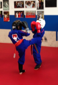 kids sparring photo