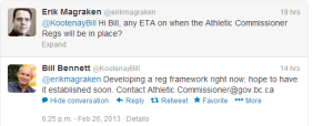 Bill Bennett exchange re MMA Regulations