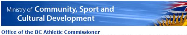 BC Athletic Commissioner Website