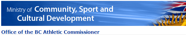 BC Athletic Commissioner Website