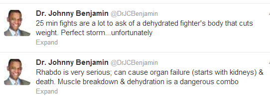 Dr Benjamin commets re dehydration