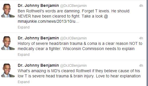 dr benjamin tweets trt head trauma