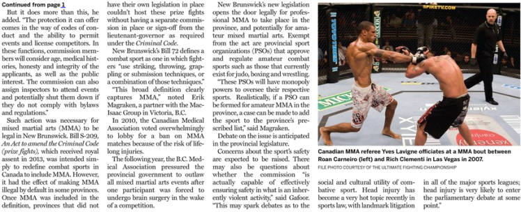 Lawyers Weekly Interview Re Combat Sports5