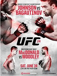 UFC 174 promotional poster
