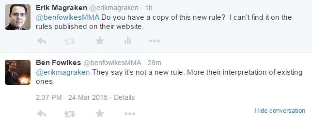 Ben Fowlkes Tweet