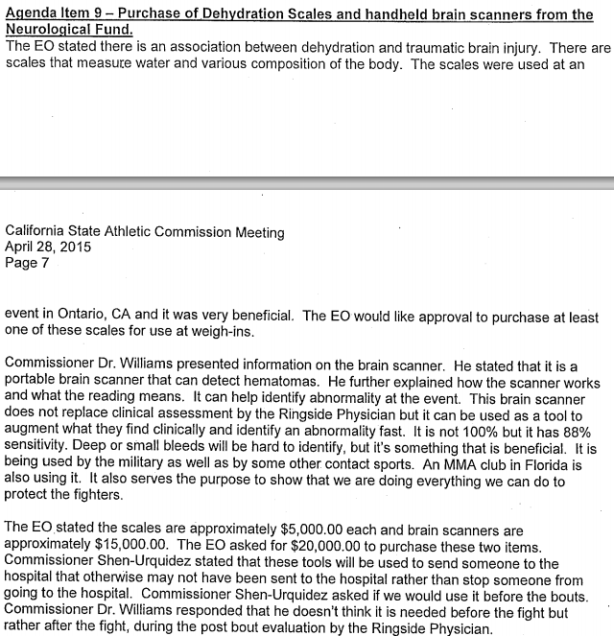 CSAC Minutes re Rapid Extreme Weight Cuts 1