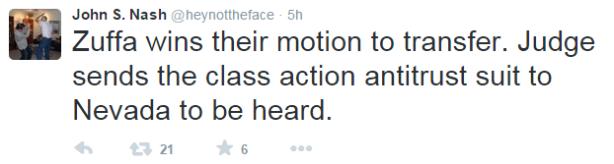 Nash Tweet Re Class Action Change of Venue