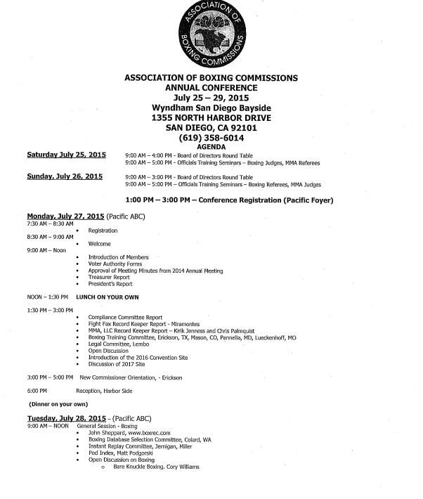 ABC Agenda Day 1