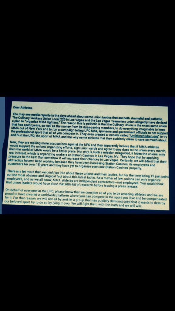 FRB Image Tweet Re UFC Union Letter
