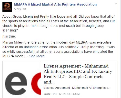 MMAFA Group Licencing FB Post
