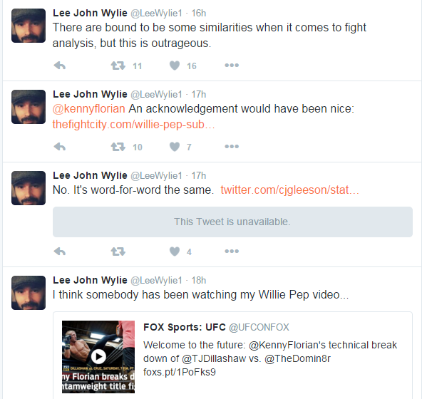 Screenshots Wylie Tweets