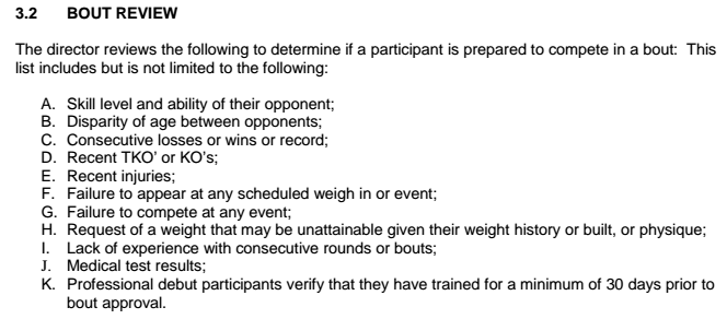 Screenshot Colorado Boxing Rules