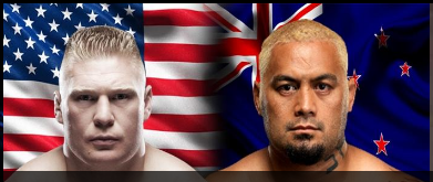 Lesnar v Hunt Image from UG