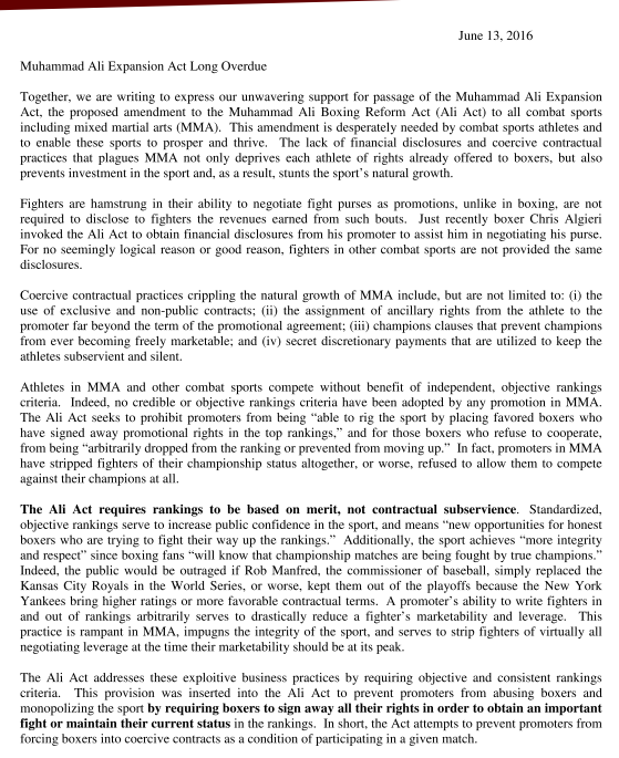 Support Letter Page 1
