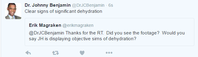 Dr B Tweet re Hendricks