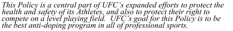 ufc-doping-policy-mission-statement