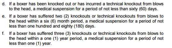 ECSC suspension policy