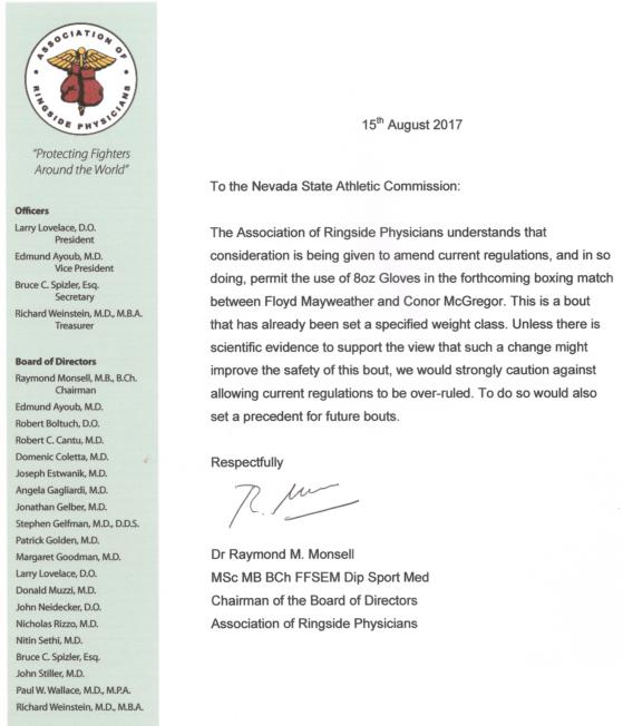 ARP letter screenshot
